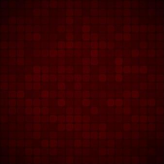 Абстрактный фон из маленьких квадратов или пикселей в темно-красных тонах