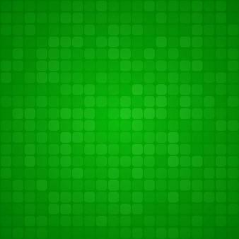 Абстрактный фон из маленьких квадратов или пикселей в зеленых тонах
