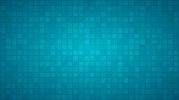 Абстрактный фон из маленьких квадратов или пикселей в голубых тонах.