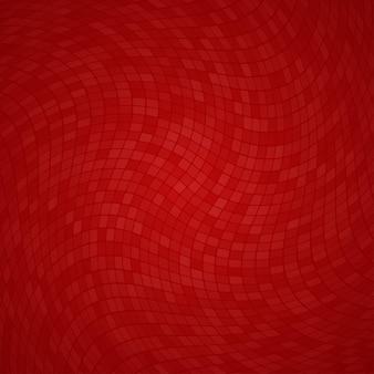 Абстрактный фон из маленьких квадратов или пикселей в красных тонах
