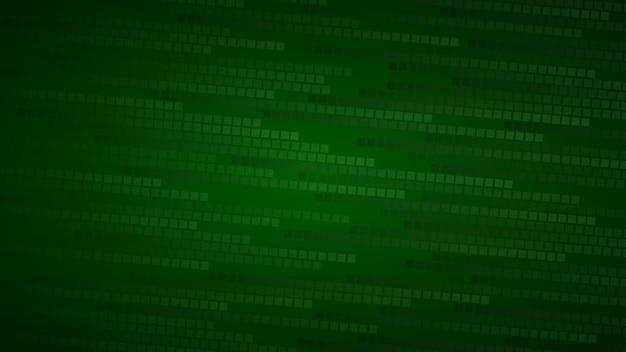 Абстрактный фон из маленьких квадратов или пикселей в оттенках темно-зеленого цвета