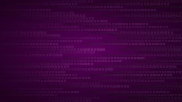 Абстрактный фон из маленьких квадратов или пикселей в оттенках темно-фиолетового цвета