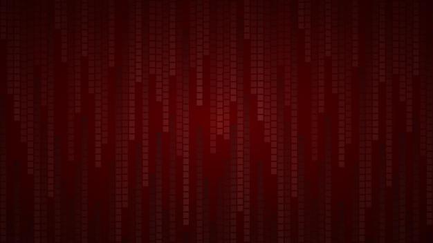 Абстрактный фон из маленьких квадратов или пикселей в оттенках темно-красного цвета