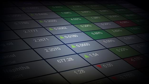Абстрактный фон фондового рынка таблица индекса товарных экономических цен