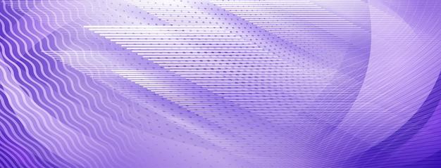 보라색 색상의 직선 및 물결 교차 선의 추상적 인 배경