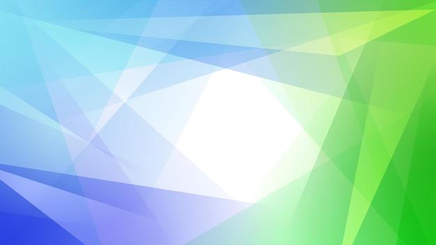 水色と緑の色でまっすぐ交差する線とポリゴンの抽象的な背景