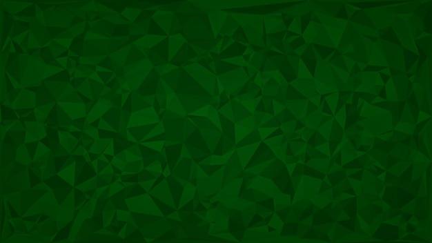 Абстрактный фон из треугольников в зеленых тонах.
