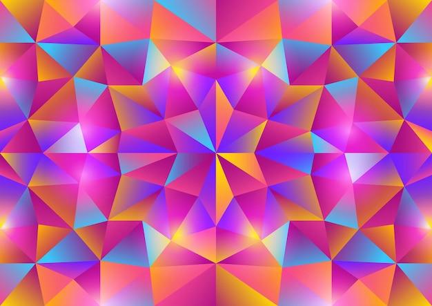 鮮やかな色の三角形のパターン、eps10のベクトル図の抽象的な背景