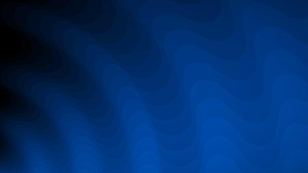 青の色合いの波線の抽象的な背景