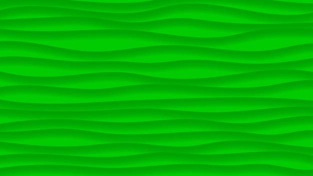 緑の色の影と波線の抽象的な背景
