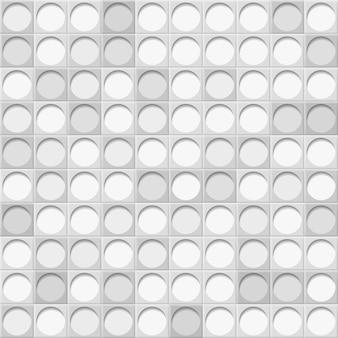 추상적 인 배경 또는 회색 색상의 동그라미와 타일의 원활한 패턴