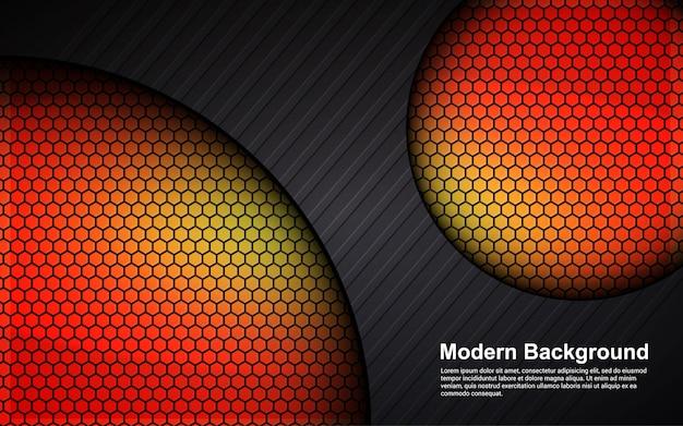 Абстрактный фон оранжевый размер на черном современном дизайне
