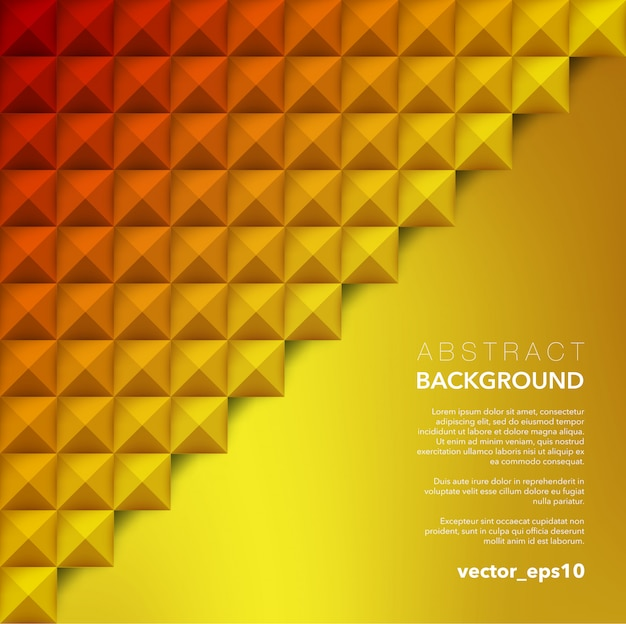 Abstract  background. orange geometric background. Premium Vector