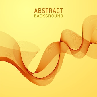 Abstract background orange wavy lines