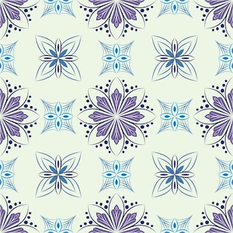 Abstract background ornament illustration. seamless pattern with flowers