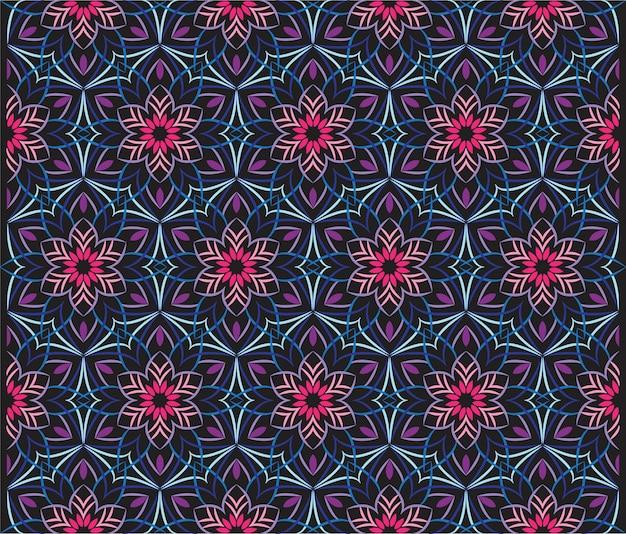 Абстрактная иллюстрация орнамента предпосылки, безшовная картина с цветками