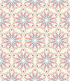 Абстрактный фон орнамент, бесшовный фон с цветами