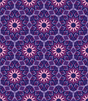 Abstract background ornament, seamless pattern with flowers