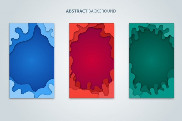 Abstract background paper cut