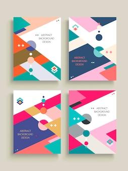 Абстрактный фоновый узор с красочными геометрическими элементами