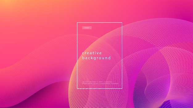 Abstract background pink design. fluid flow gradient with geometric lines and light effect. motion minimal concept.