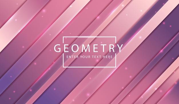 抽象的な背景ピンクの幾何学線。