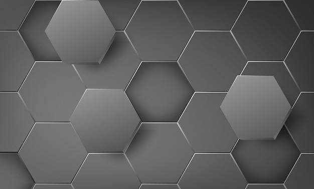 抽象的な背景の多角形のオーバーラップ