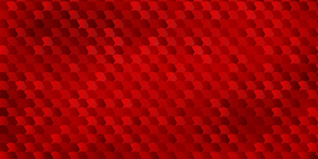 Abstract background of polygons fitted to each other, in red colors