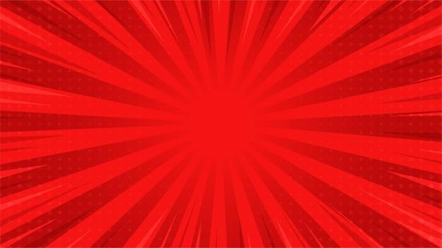 抽象的な背景ポップアートコミック散乱光線ハーフトーンの正方形でズームします。