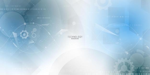 ダイナミックな抽象的な背景ポスター。技術ネットワークベクトル図。