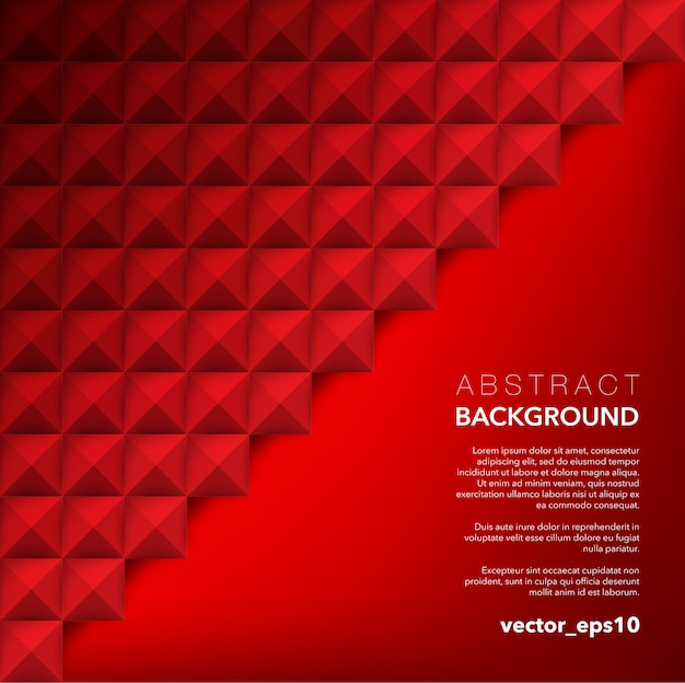 Abstract  background. red geometric background.