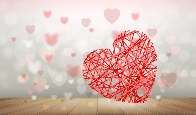 Abstract background of red heart.