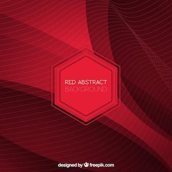 Sfondo astratto di linee rosse