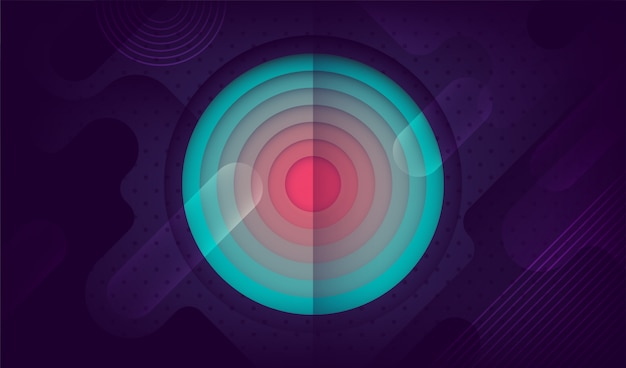 Abstract background in retro geometric style