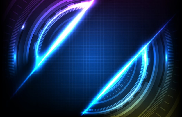 Abstract background of round futuristic technology user interface screen hud