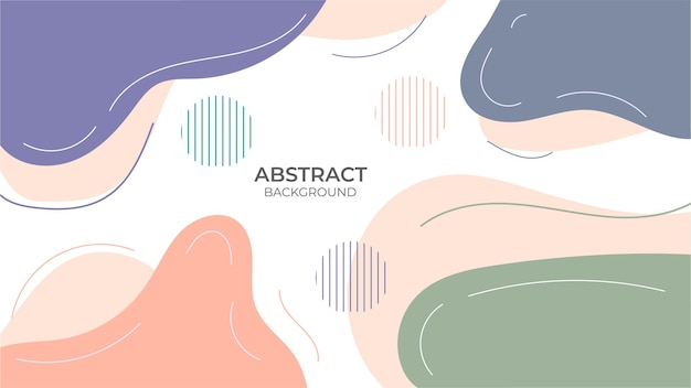 Abstract background seamless design geometric object, with decorative design in abstract style with fluid object