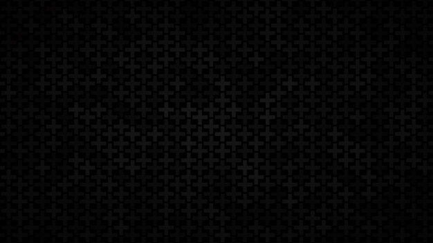Abstract background of small crosses in shades of black colors