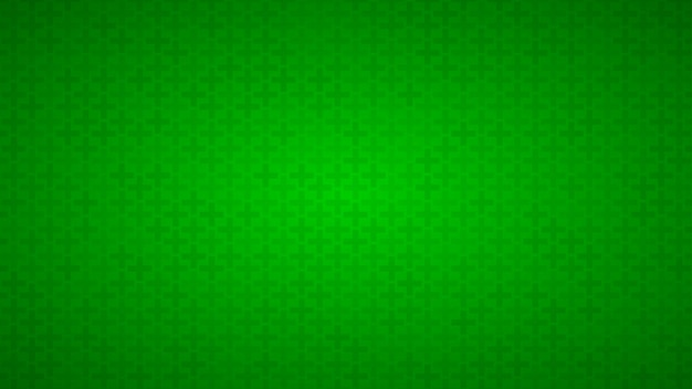 Abstract background of small crosses in shades of green colors