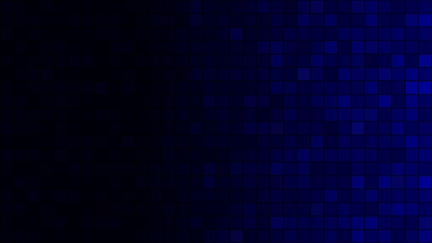 Abstract background of small squares in dark blue colors with horizontal gradient
