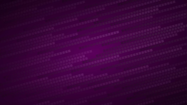 Abstract background of small squares or pixels in shades of dark purple colors