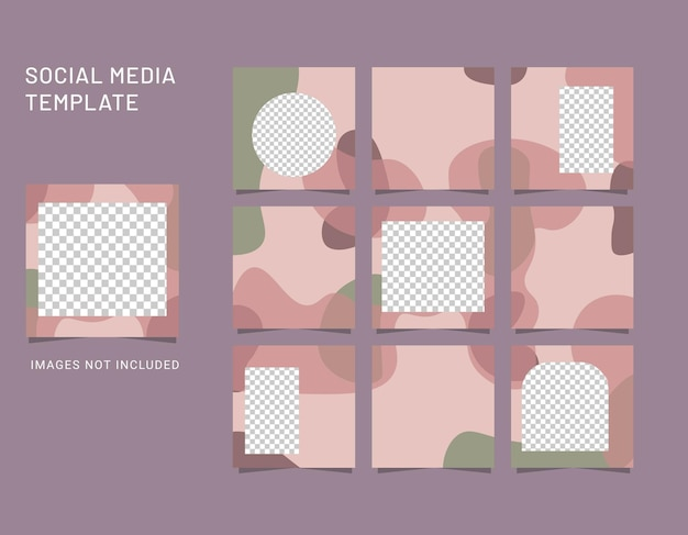 Abstract background for social media post Premium Vector