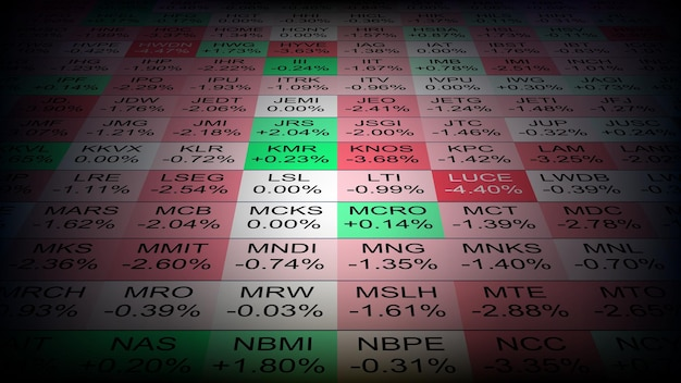 Abstract background of stock market tree heat map