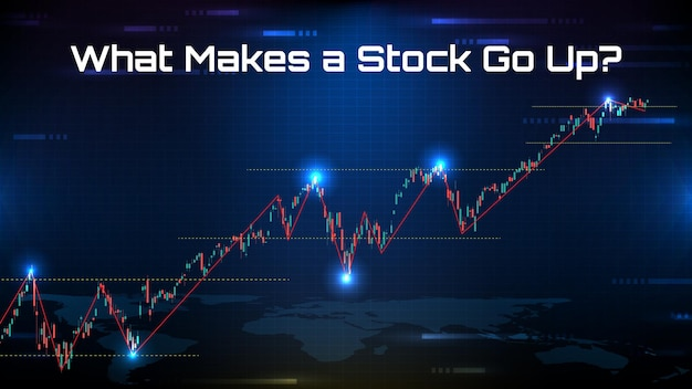 Abstract background of stock market , what makes a stock go up?