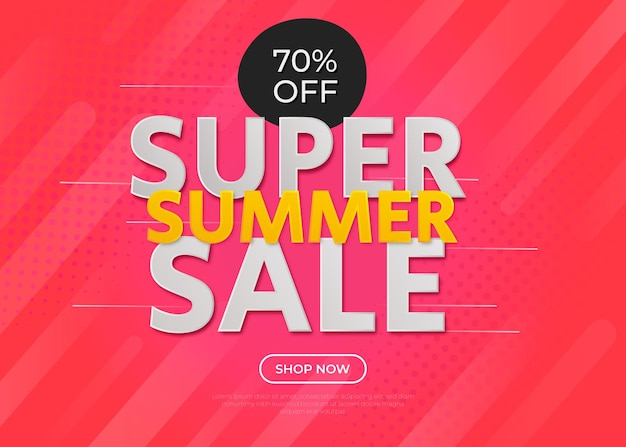 Abstract background for summer sale with gradient