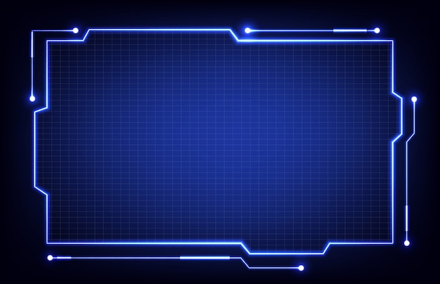 Abstract background of technology hud or head-up display frame