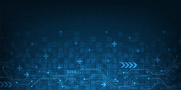 Абстрактный фон технологии в концепции цифрового.