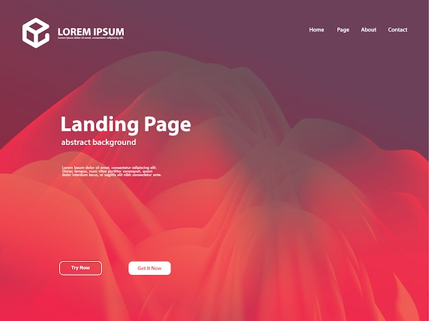 Abstract background template for landing page