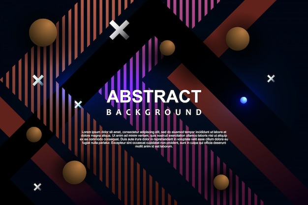 Abstract background template memphis modern neon geometric design