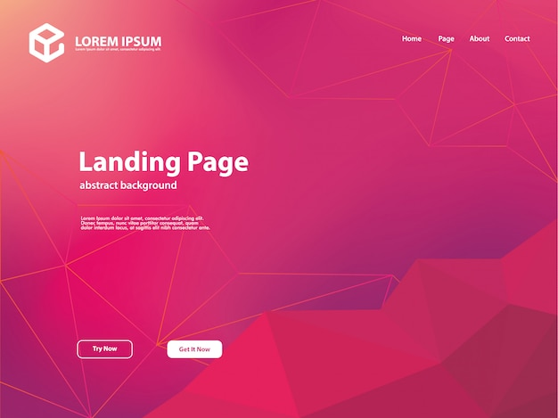 Abstract background template with landing page background