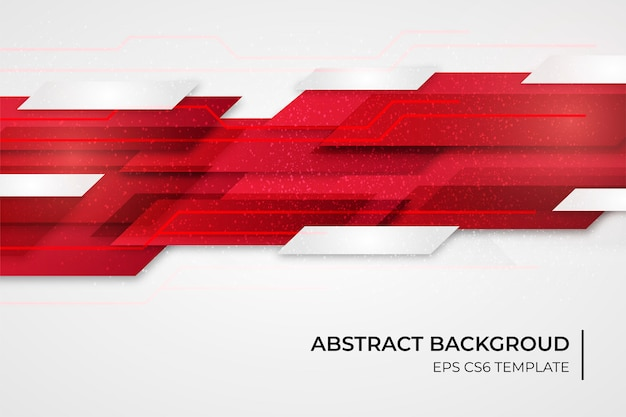 Abstract background template with red shapes